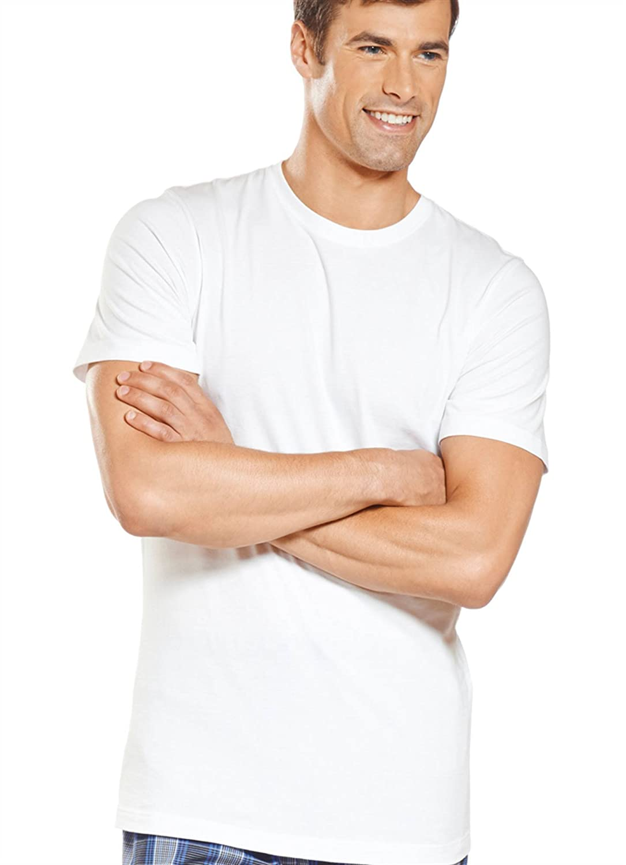 T shirt slim fit white - Amazon Com Jockey Men S T Shirts Slim Fit Cotton Crew Neck 3 Pack Clothing
