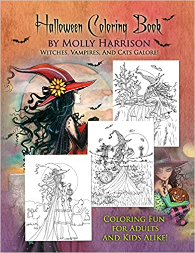 Halloween Coloring Book By Molly Harrison 9781517135775 Amazon Books