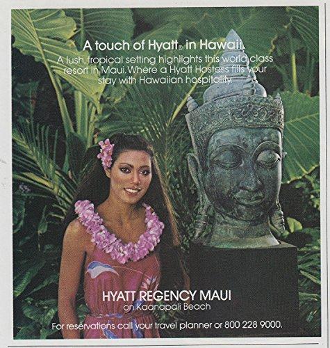 1982 Hyatt Regency Maui: A Touch of Hyatt in Hawaii, Hyatt Hotels Print - Hyatt Maui Regency