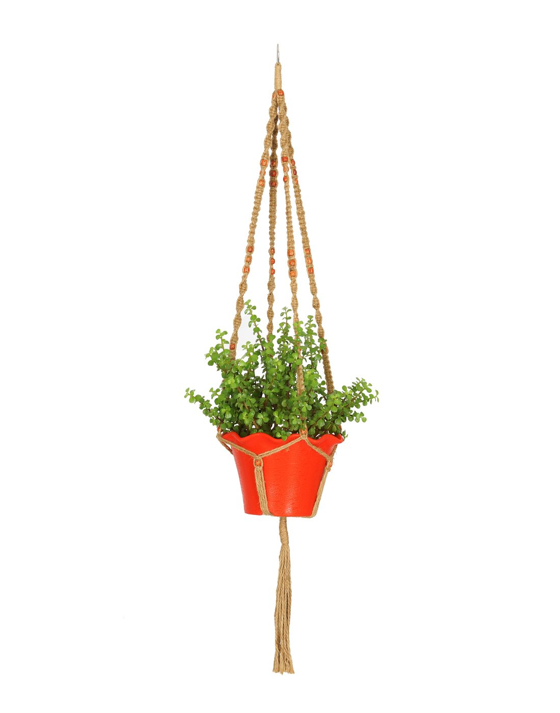Amazon.com: AshmanOnline Plant Hanger Macrame Jute 4 Legs 48 Inch With  Beads: Garden U0026 Outdoor