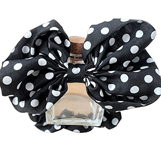 Amazon.com  Catnew Big Bowknot Polka Dots Hair Tie Rope Ponytail ... 0237a23767f