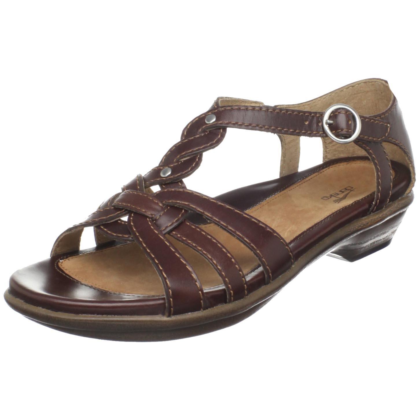 3abd10240290f Amazon.com | Dansko Women's Calliope Full Grain Sandal, Chocolate, 41 EU /  10.5-11 B(M) US | Sandals