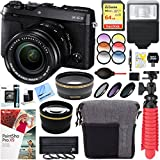 Fujifilm X-E3 24.3 MP Mirrorless Digital Camera (Black) with XF 18-55mm Lens Accessory Bundle