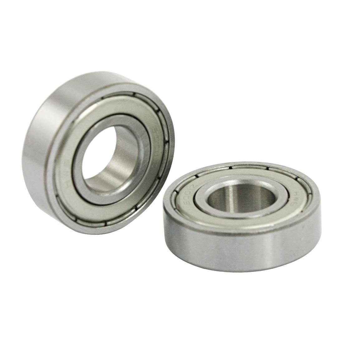 sourcingmap 5 Pcs 12mm x 28mm x 8mm 6001Z Shielded Deep Groove Radial Ball Bearing a12021500ux0296