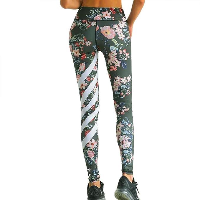 Damen Hosen Mumuj Mode Blumen Floral Bedruckt Yoga Hosen Workout Gym  Leggings Fitness Sport Gestreiften Hosen 6a11466535