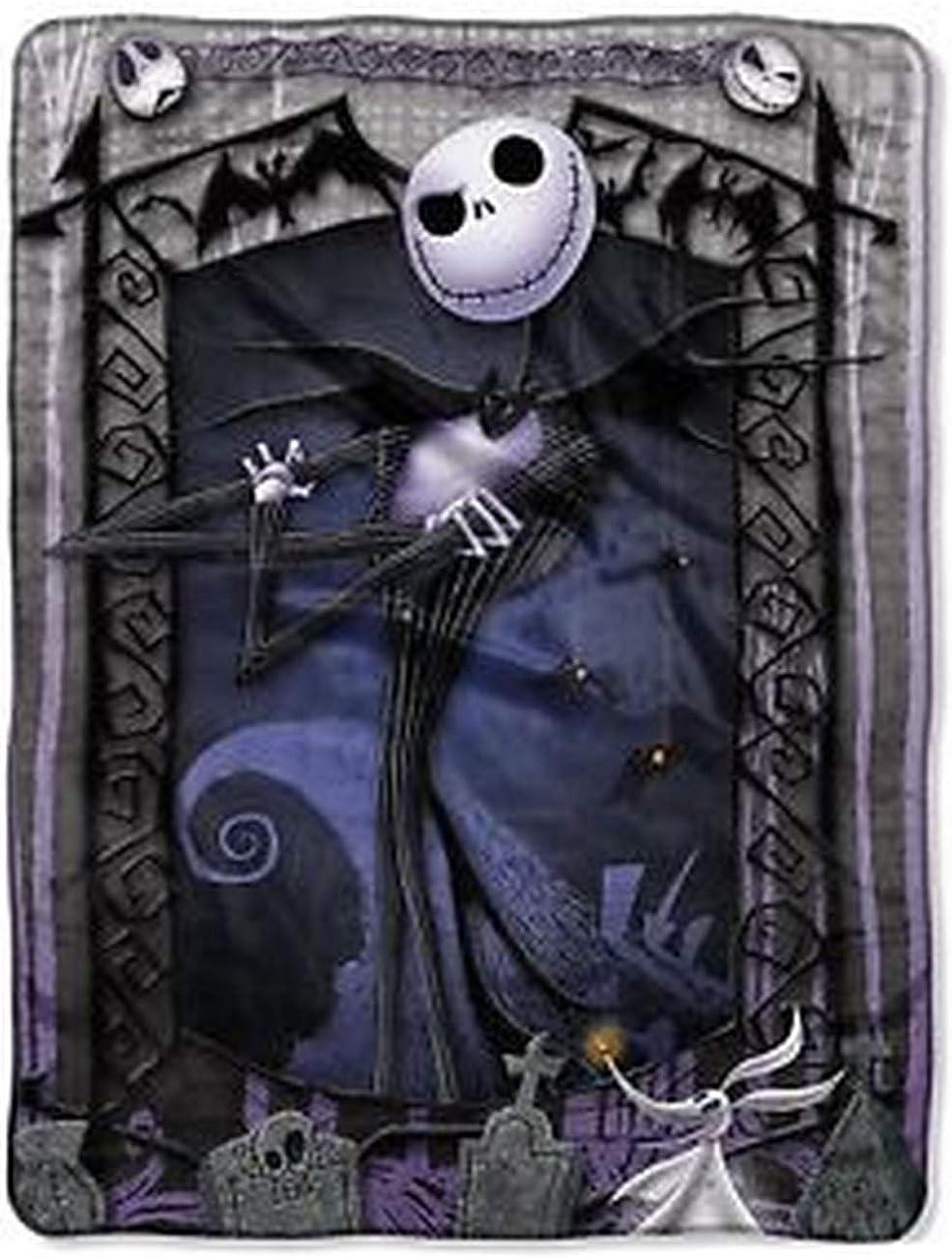 The Nightmare Before Christmas Blanket Throw ~ Jack Skellington & Zero by Disney