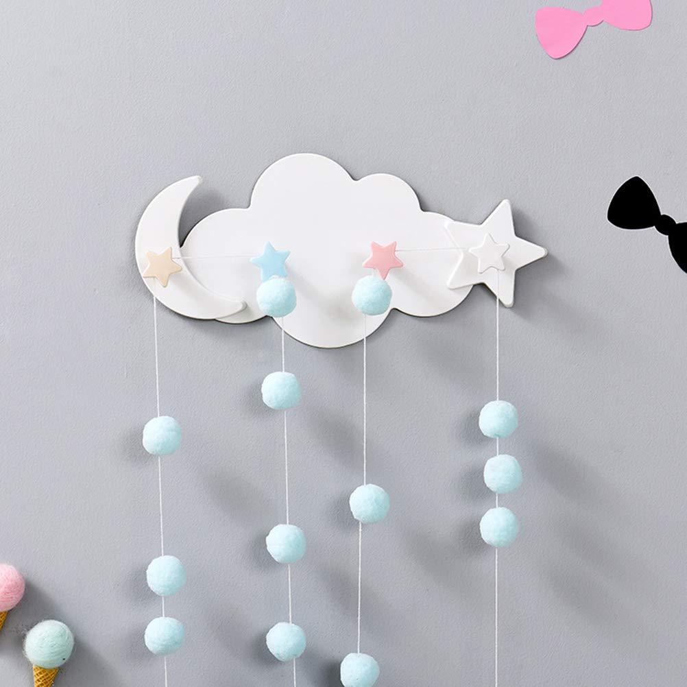 BESTONZON Ganci Appendiabiti Bambini da Parete Muro a Forma di Nuvola Decorazioni Stanza Ragazza