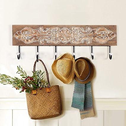67a3d0c9db3d Amazon.com: XQY Wooden Household Hangers, Wall Hangers,European ...