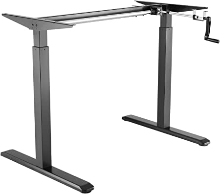 Exeta Hauteur Réglable Bureau Table Châssis Blanc Bureau avec manivelle
