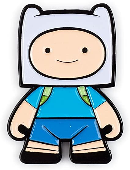 Kidrobot ADVENTURE TIME Enamel Pin Series FINN WITH GRASS SWORD Opened Blind Box