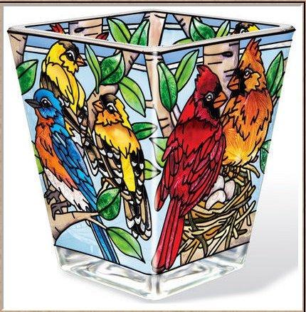 AMIA - Cardinal - Nested Birds Petite Votive Holder