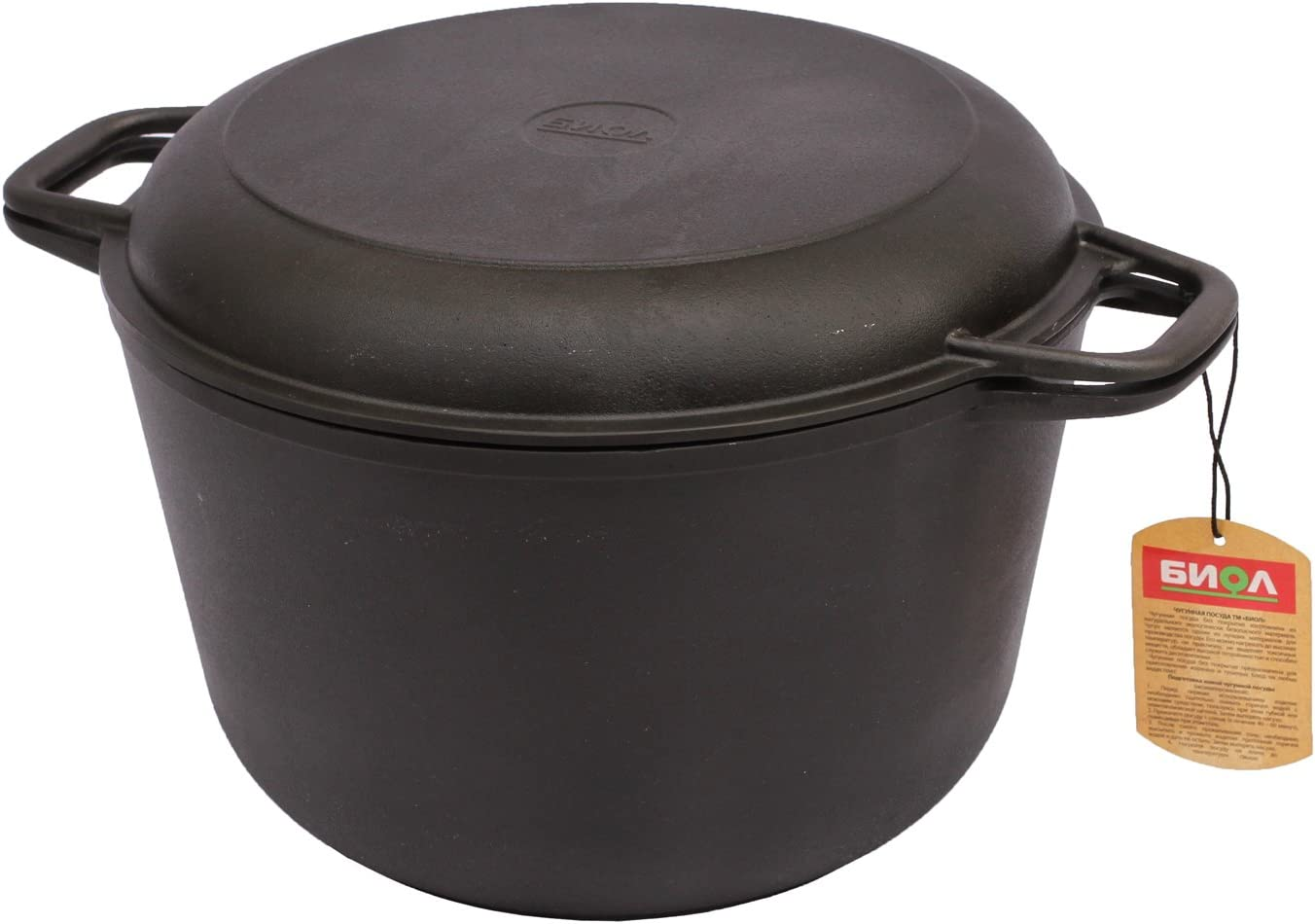 6L Marmite en fonte avec couvercle Po/êles Cocotte Cocotte induction Pot