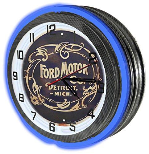 vintage-ford-motor-co-18-carbon-fiber-blue-double-neon-garage-clock-from-redeye-laserworks