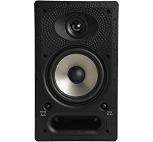 Polk 65-RT In-Wall Speaker - The Vanishing Series with Premium Sound | Power Port & Paintable Wafer-Thin Sheer Grille | Dual Band-Pass Bass Ports for Low Frequencies