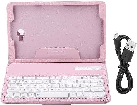 Vbestlife Funda con teclado inalámbrico integrado, Funda con Wireless Teclado Aptos para Samsung Tab A 10.1 T580 (Rosa)