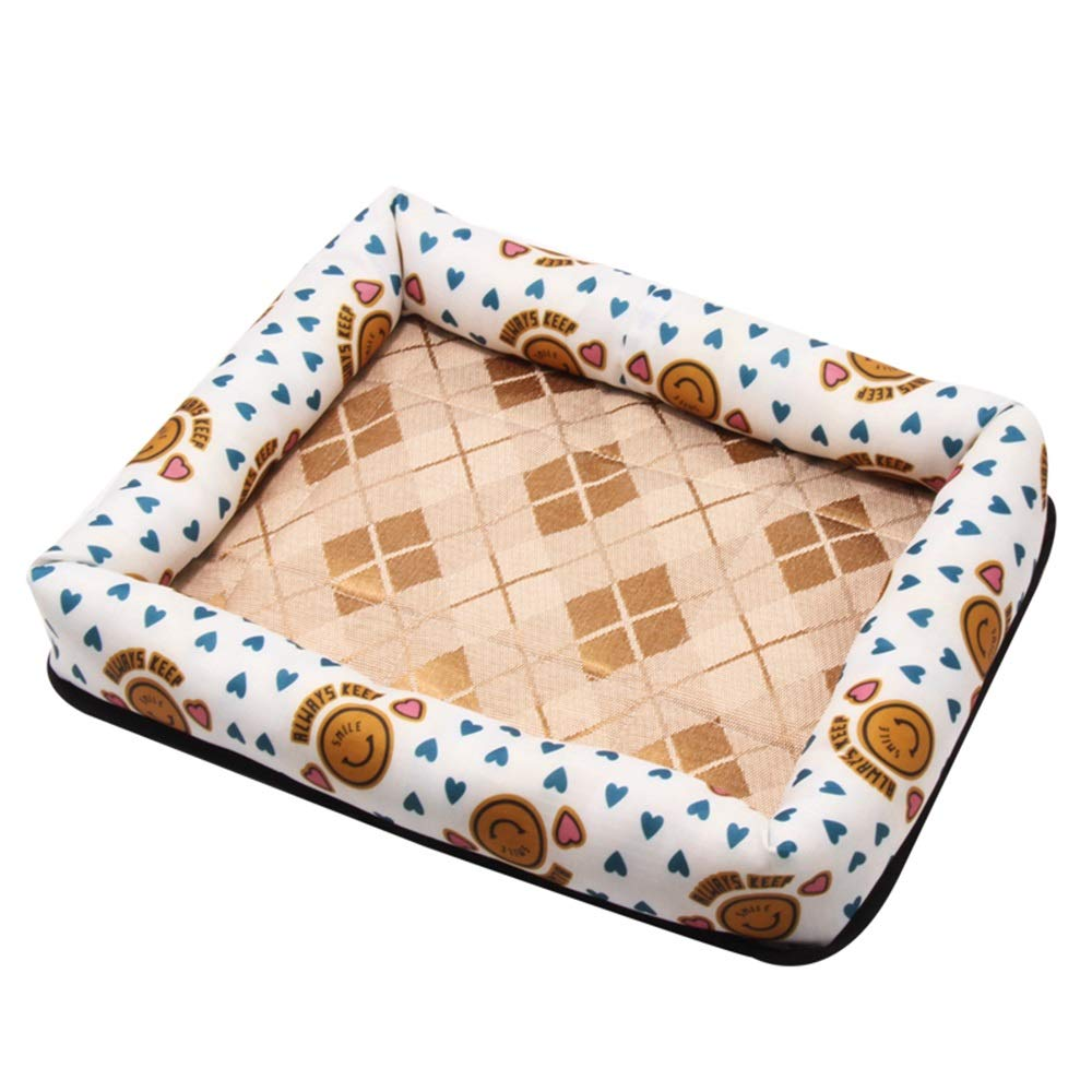 1002-S Pet Bed, Kennel Four Seasons Universal Summer Cool Nest Pet Small Medium Dog Rattan Cool Mat (color   1002-S)