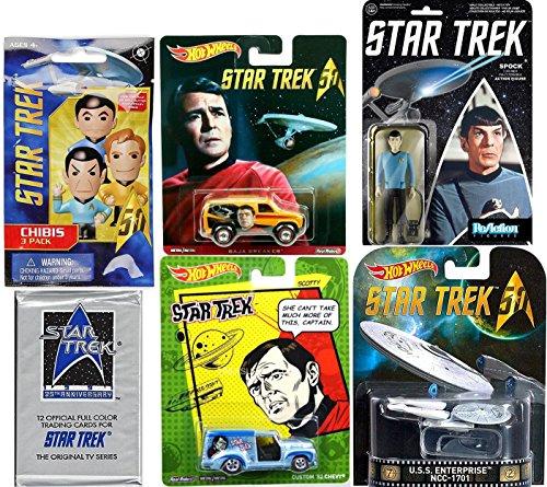 Hot Wheels Star Trek Space Pack Mr. Spock Action Retro Figure & Hot Wheels Pop Culture cars 25th Anniversary Retro USS Enterprise Original TV Series Trading Cards STAR TREK Chibi Figure Blind Bag PACK