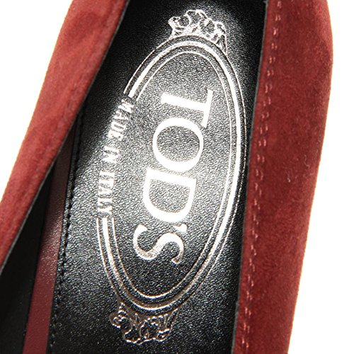 Donna 1750G Decollete Scarpa Tod's Scamosciata Bordeaux Bordeaux q7wz5E