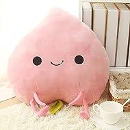 WuKong 17.5'' Creative Cartoon Fruit Cushions Cute Plush Dolls Office Home Pillow (Peaches)