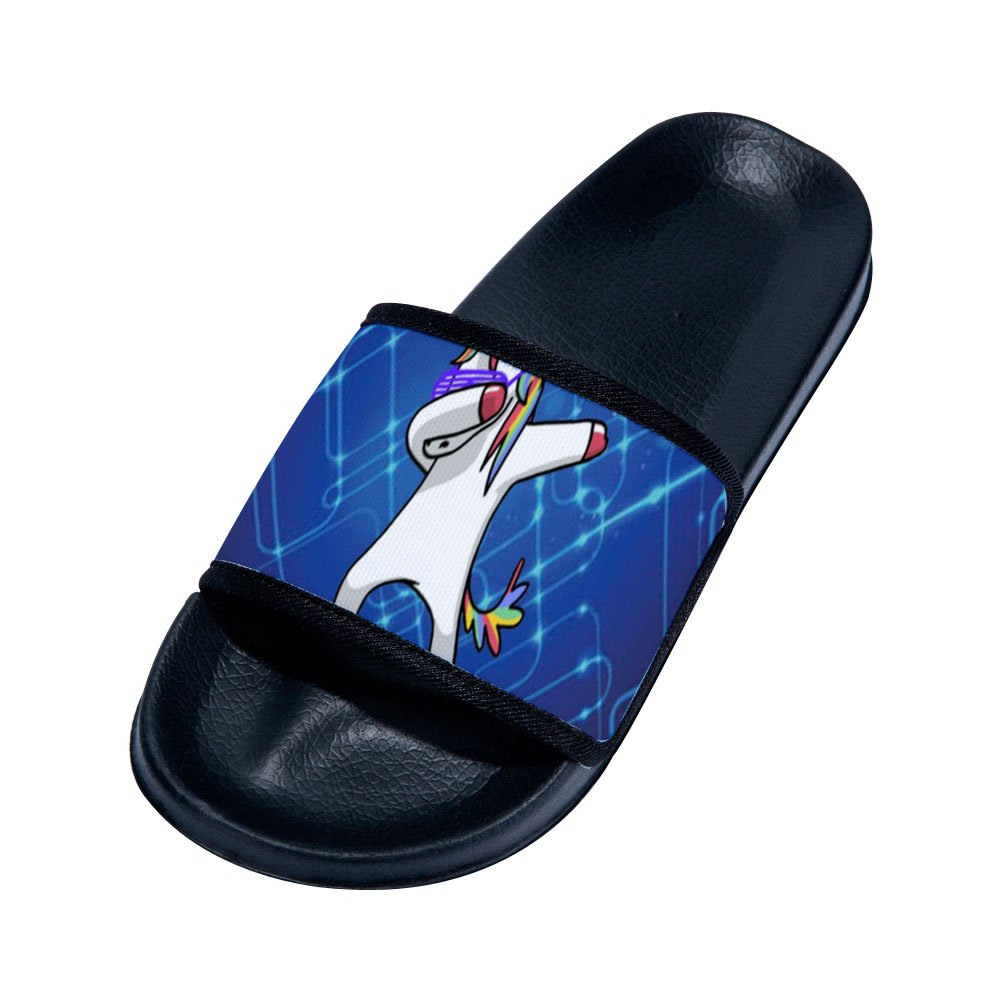 Little Kid//Big Kid Boys Girls Slide Sandals Non-Slip Soft Sole Summer Beach Slippers