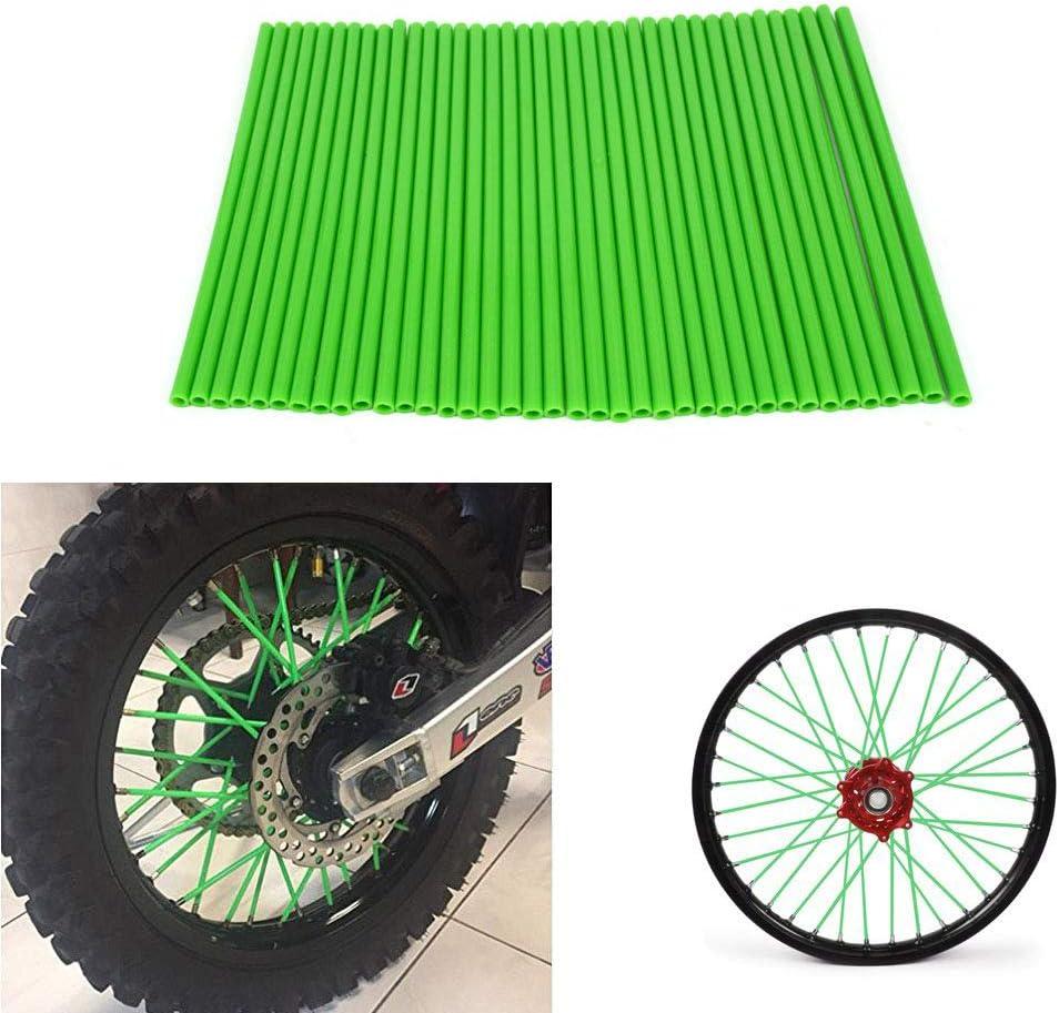 YSMOTO - 72 Fundas Protectoras para radios de Motocicleta, de plástico, para Kawasaki KX250 KX500 KXF250 KX450F KLX KXF 125 250 450 Motocicleta, Color Verde