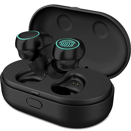 Bluetooth Kopfhörer V5.0 HolyHigh kopfhörer kabellos in ear Headset Stereo-Minikopfhörer Sport IPX6 Wasserdicht mit Ladekästc