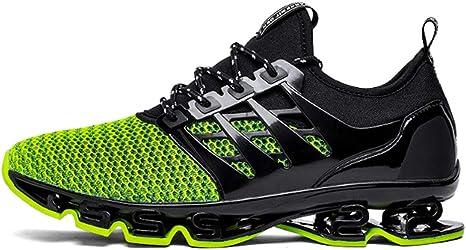ASDFGH Zapatillas de Running para Hombre, Zapatillas de Deporte Transpirables y con absorción de Golpes Zapatillas de Tenis para Correr en Pista de Tenis para Adultos,Green,43: Amazon.es: Hogar