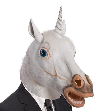 Carnival Toys 1491 Máscara Unicornio, blanco, talla única