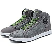 Motorcycle Shoes Men Streetbike Casual Accessories Breathable Protective Gear Powersport Anti-Slip Footwear 12 Grey