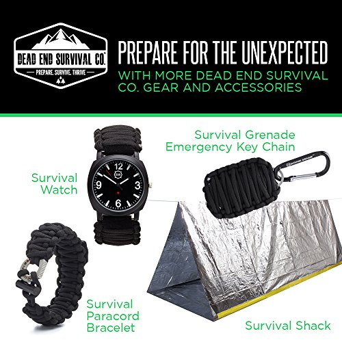 Large Product Image of Ralix Survival Spark Magnesium Survival Fire Starter with Compass and Whistle