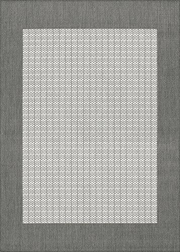 Couristan 1005/3012 Recife Checkered Field/Grey-White2-Feet 3-Inch by 7-Feet 10-Inch Runner Rug