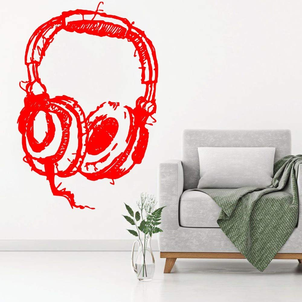 jiuyaomai DIY DJ Listening Headphone Art Tatuajes de Pared Resumen ...