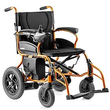 ACEDA Silla De Ruedas Eléctrica Power Chair De Aluminio Plegado Automático Ultraligera Frenos Electromagnéticos\ Manuales,Asiento 44Cm,Peso Máximo Soportado ...