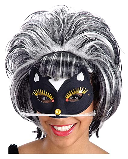 Horror-Shop Máscara del gato con brillo y diamantes de imitación