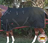 HILASON 1200D Ripstop Waterproof Turnout Winter Horse Blanket Black White