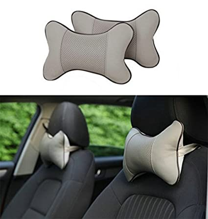 SameDream 2PCS Universal Car Neck Pillow Seat Breathable Auto Head Rest Cushion Headrest