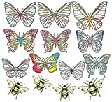Rainbow Symphony Window Decals – Butterfly Series Suncatcher – Holographic Rainbow Window Stickers