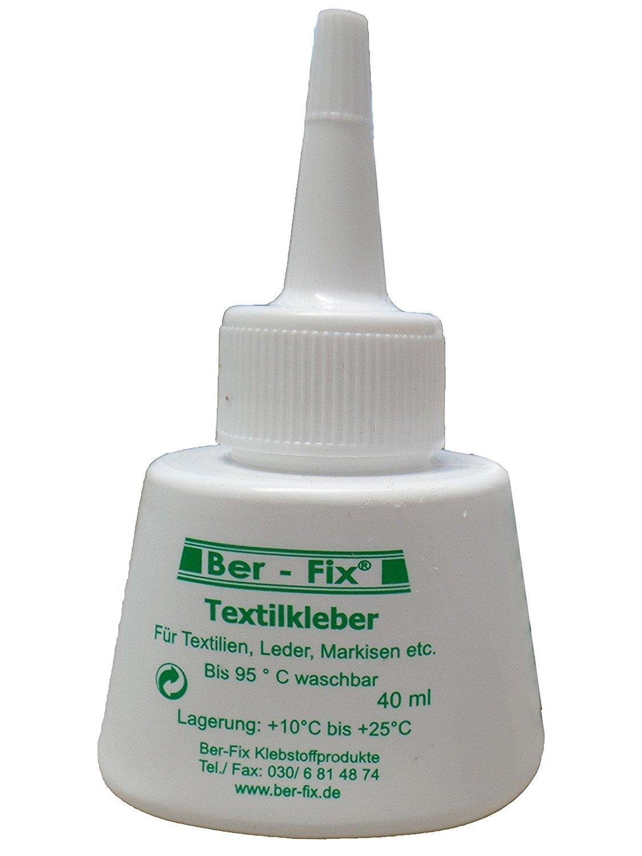 ber-fix Colle textile lavable en machine à 95° iron-safe 180° (40ml)