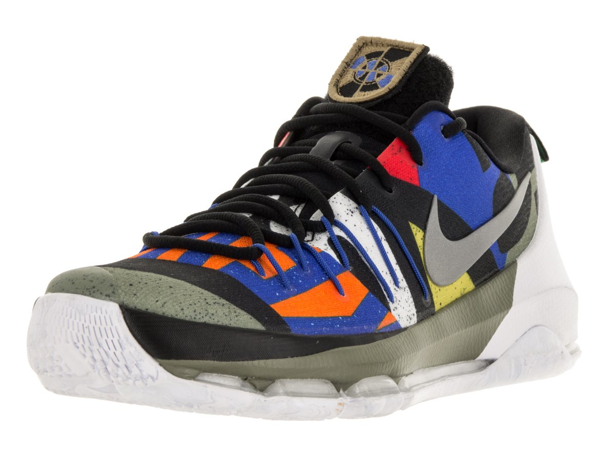 NIKE Men's KD 8 Basketball Shoe B005XW4V0K 10 D(M) US|White/Metallic Silver-Black-Multi-Color