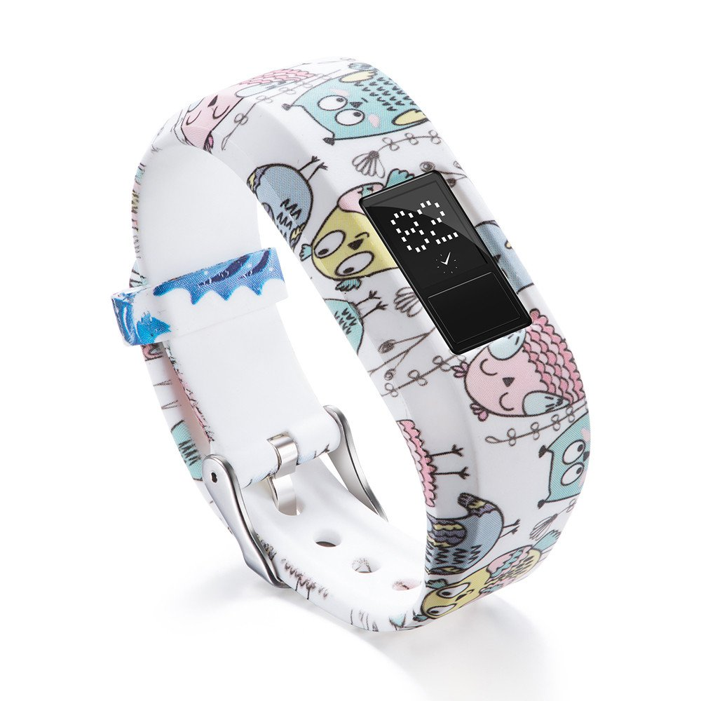Garmin Vivofit 3 Bands,Lovewe Soft Silicone Replacement Strap Accessory Flower Printing Wristbands For Garmin Vivofit 3 (F)