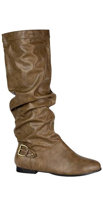 Andres Machado Damenstiefel Beige-Braun Größe 44  Amazon.de  Schuhe ... acda1ca359