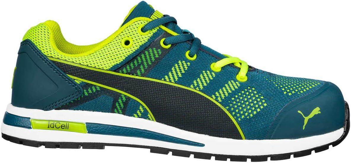 Chaussures de sécurité S1P PUMA Safety Elevate Knit Green Low 643170 43 Taille: 43 vert, jaune 1 paire(s)