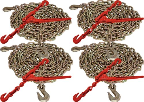"""5/16"""" x 20' G70 Tie Down Chain and 5/16"""" - 3/8"""" G70 Lever Chain Binder"""
