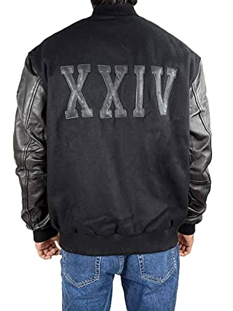 13f01928a2e Michael B Jordan Kobe Destroyer XXIV Adonis Creed Battle Varsity Leather  Sleeves Jacket (XS)