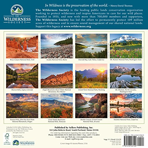 The Wilderness Society 2017 Wall Calendar