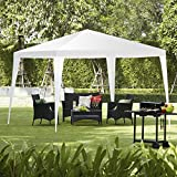 TANGKULA 10'x10' Gazebo Pavilion Cater Canopy Wedding Party Tent Outdoor