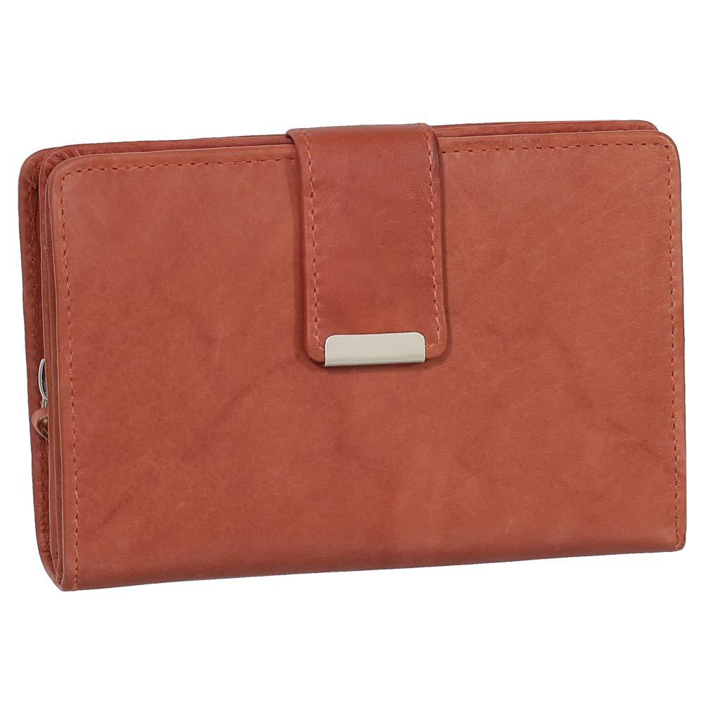 Damen Leder Geldbörse Damen Portemonnaie Damen Geldbeutel - Farbe Bordeaux - Geschenkset + Exklusiven Ledershop24 Schlüsselanhänger