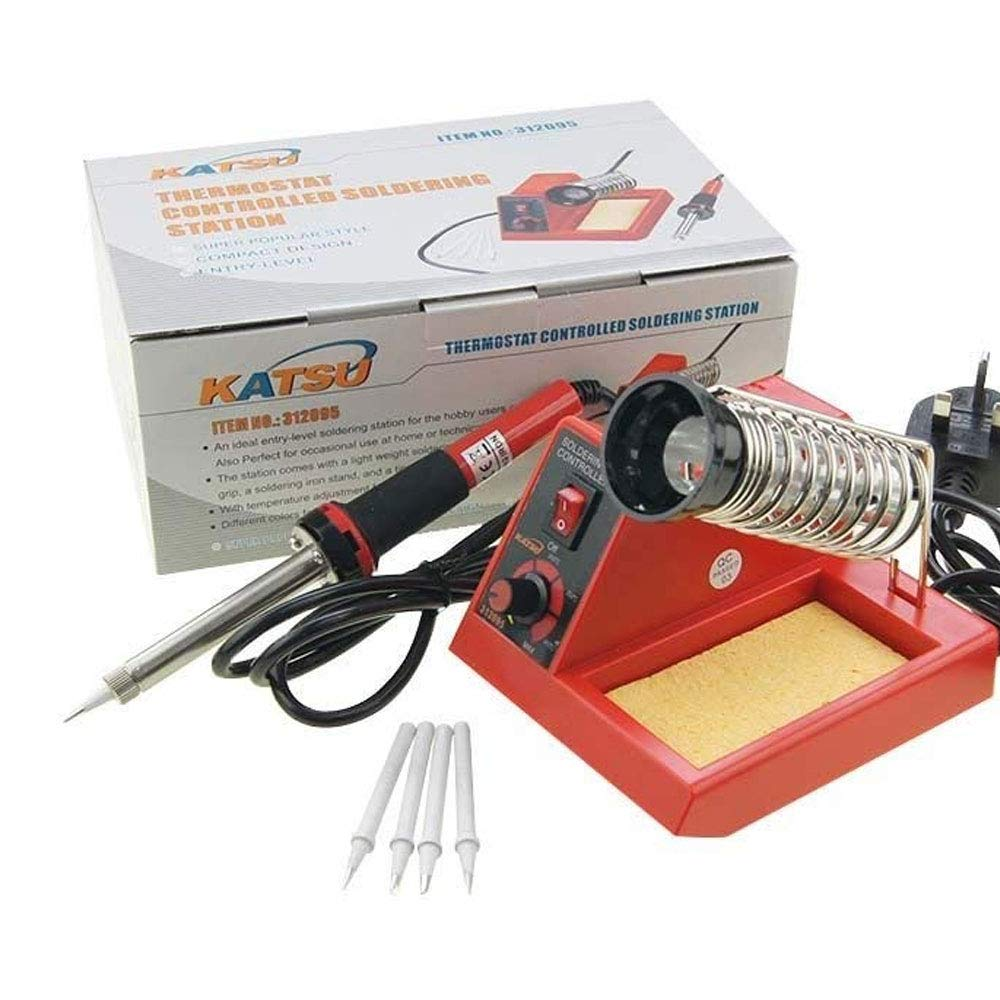 KATSU® 312095 58W Variable Temperature Soldering Station Iron Electronic with Extra Tips KATSU Tools