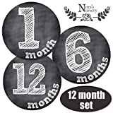 Chalkboard Baby Monthly Stickers - Shower Gift Idea - Best Reviews Guide