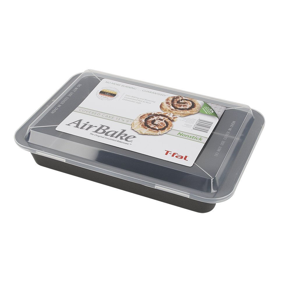 AirBake Nonstick Cake Pan with Cover, 13 x 9 in by AirBake